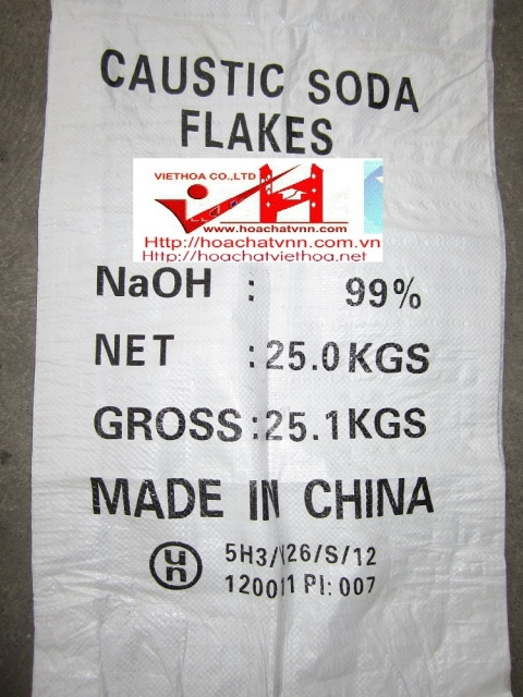 NaOH – Cautic soda Flakes 98% – Đài Loan